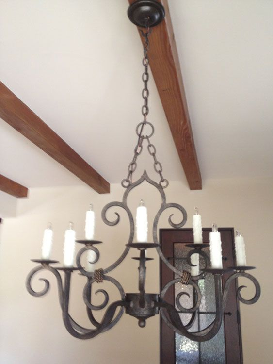 San Miguel Chandelier Wrought iron chandeliers Iron chandeliers