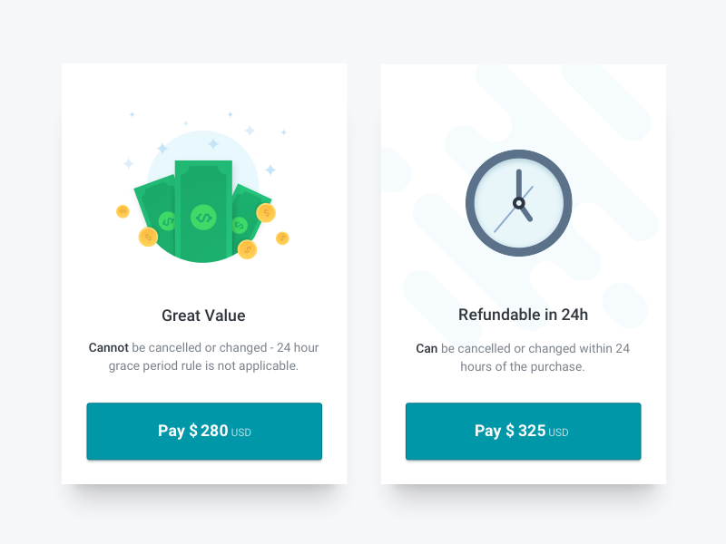 Hi friends,  I've made this modal option for kiwi.com. In order to offer you the best prices, we search, book and purchase flights also outside U.S. domain. It is possible that the flight you selec...