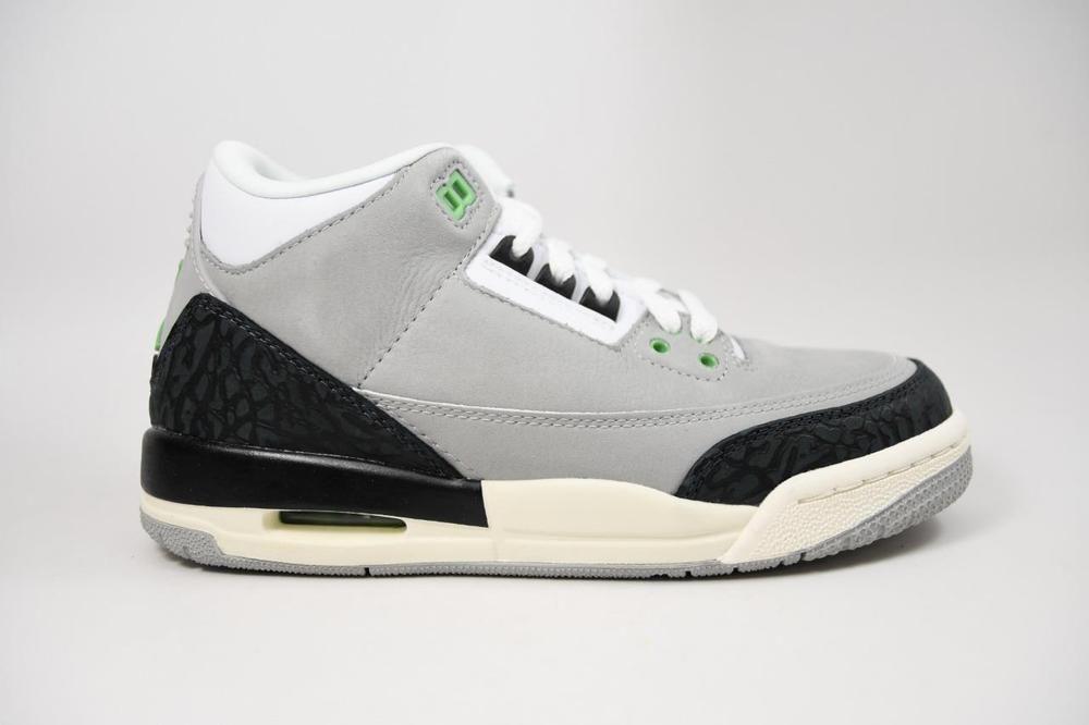 big sale 866b8 0cb08 eBay  Sponsored Nike Jordan 3 Retro Chlorophyll Tinker Grey lot 398614 006 Grade  School Size 5.5