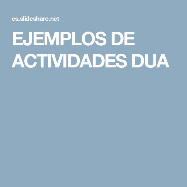 Ejemplos De Actividades Dua Estrategias De Lectura Habilidades De Afrontamiento Dua