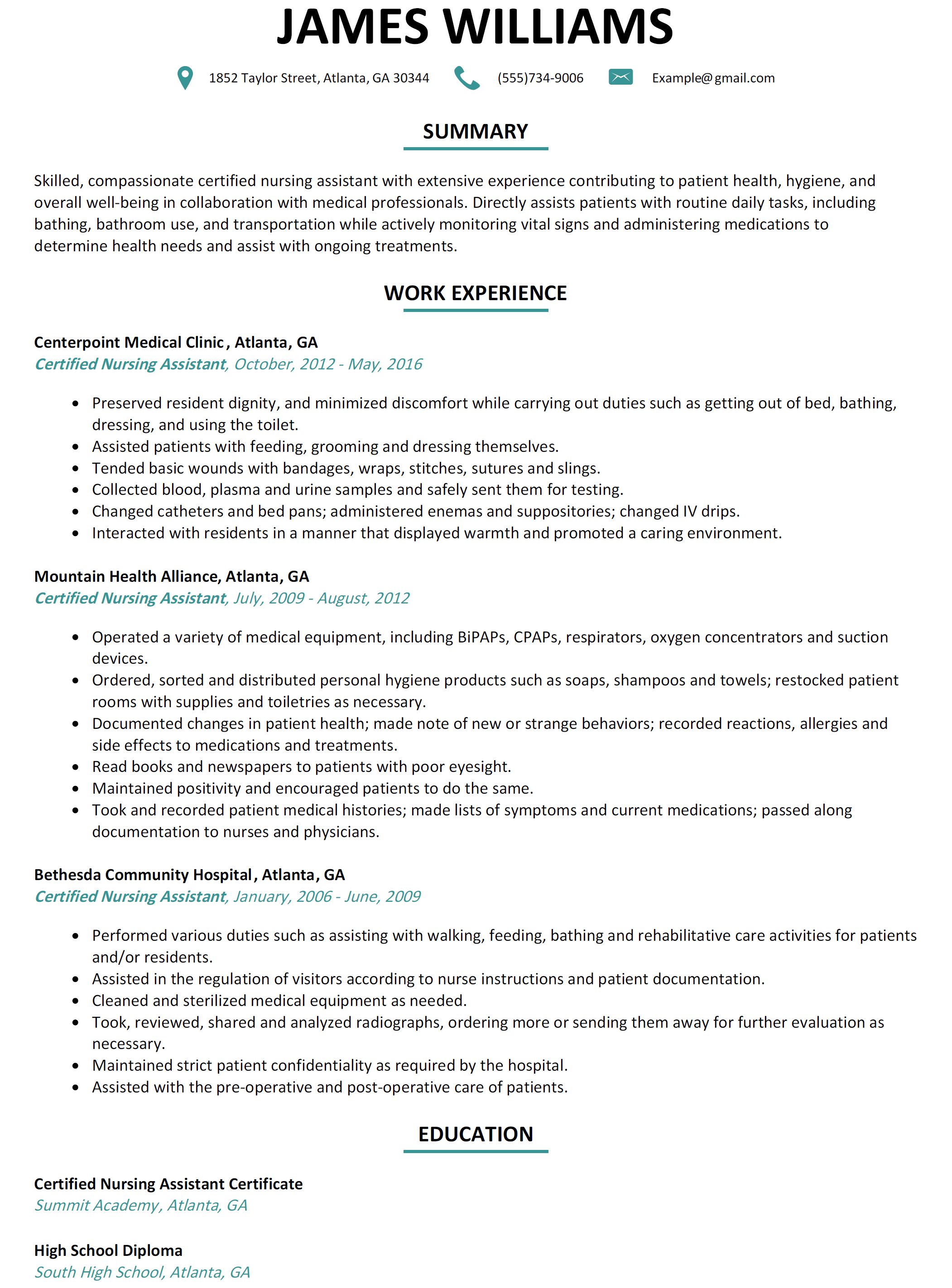Sample Phlebotomy Resume Cover Letter Entry Level Example Cna