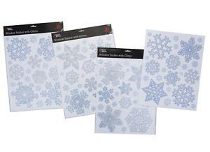 Glittery Snowflake Window Stickers For Frozen Themed Party PM - Snowflake window stickers amazon