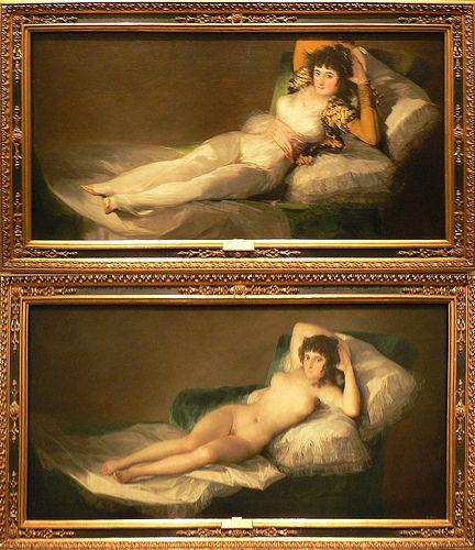 Francisco De Goya La Maja Desnuda Y La Maja Vestida 1820 23