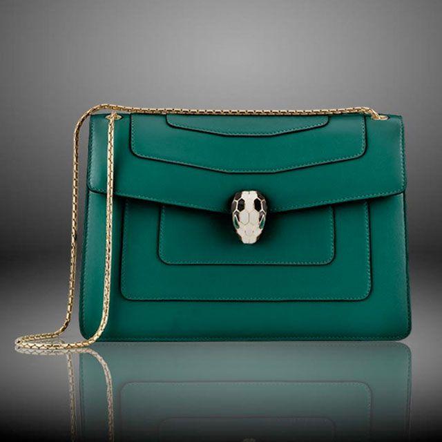Bulgari Serpenti Bag Bvlgari Bags Handbags Green