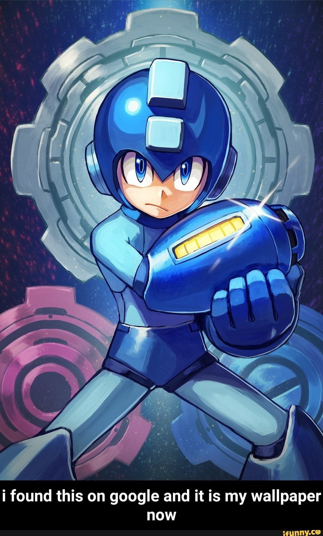 I Found This On Google And It Is My Wallpaper Now Ifunny Mega Man Art Retro Gaming Art Mega Man