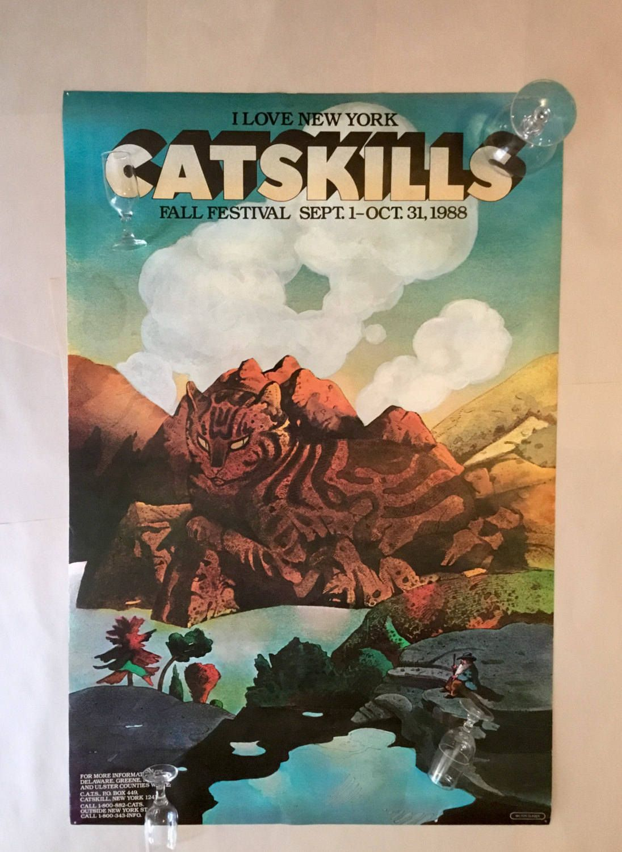 Milton Glaser 'I Love NY' Catskills Cats Poster I love