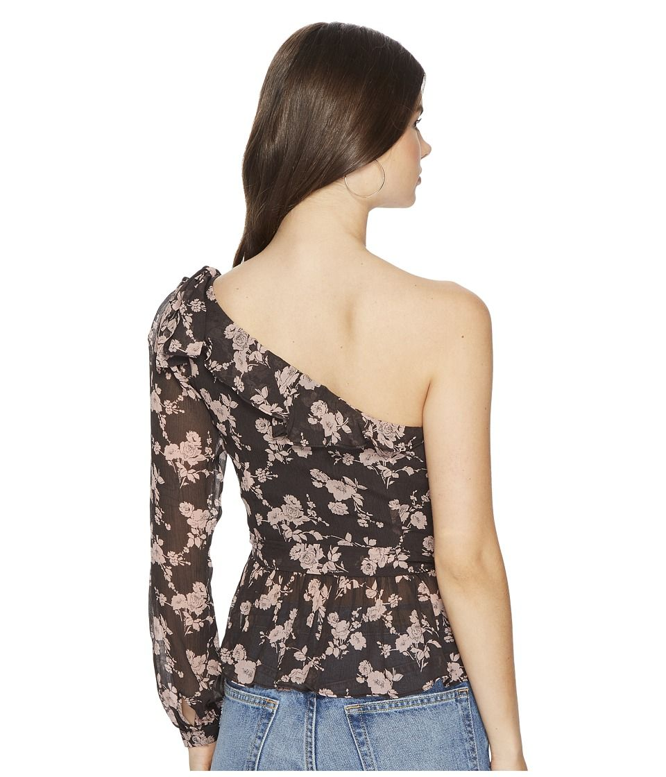 88e79e903dd88 For Love and Lemons Theo One Shoulder Blouse Women s Blouse Winter Floral