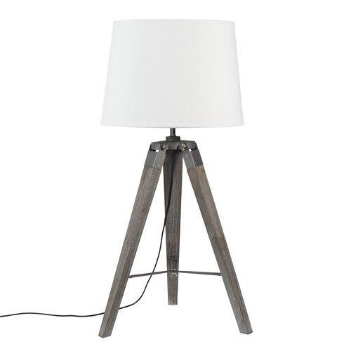 Popular Dreibein Lampe GUERNESEY aus Holz H cm