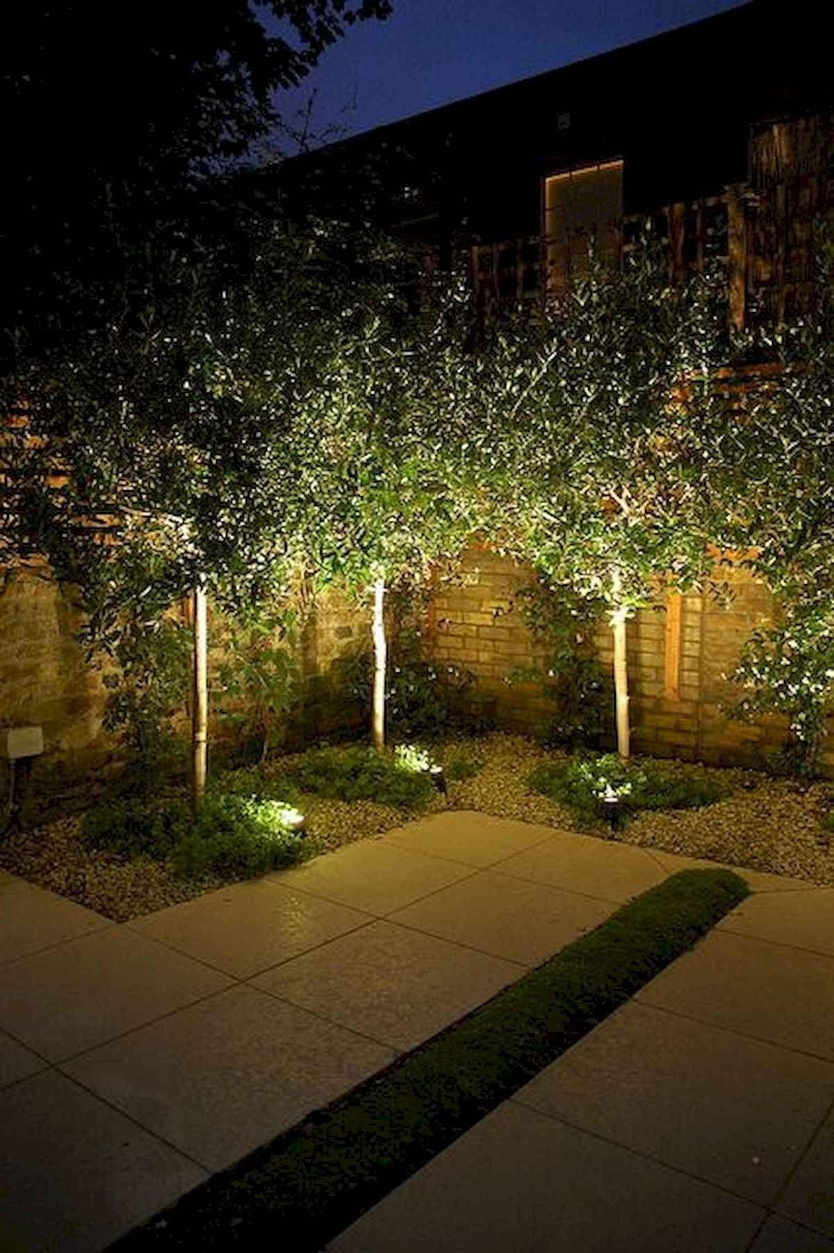 55 Stunning Garden Lighting Design Ideas And Remodel In 2020 Outdoor Landscape Lighting Garden Lighting Design Solar Landscape Lighting