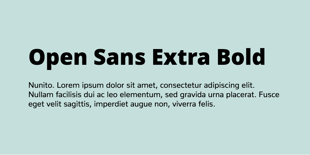Open sans extrabold font free download | Download Open Sans