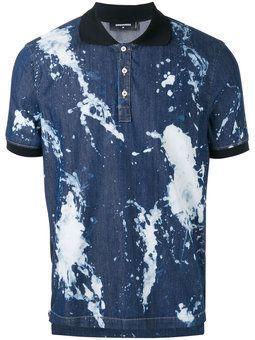 splatter polo shirt