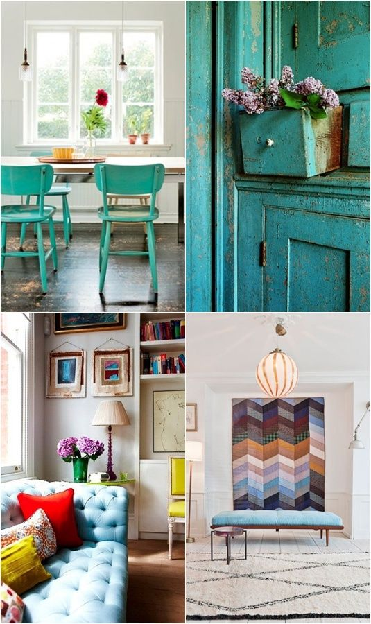 blue turquoise kitchen dining cupboard sofa bench