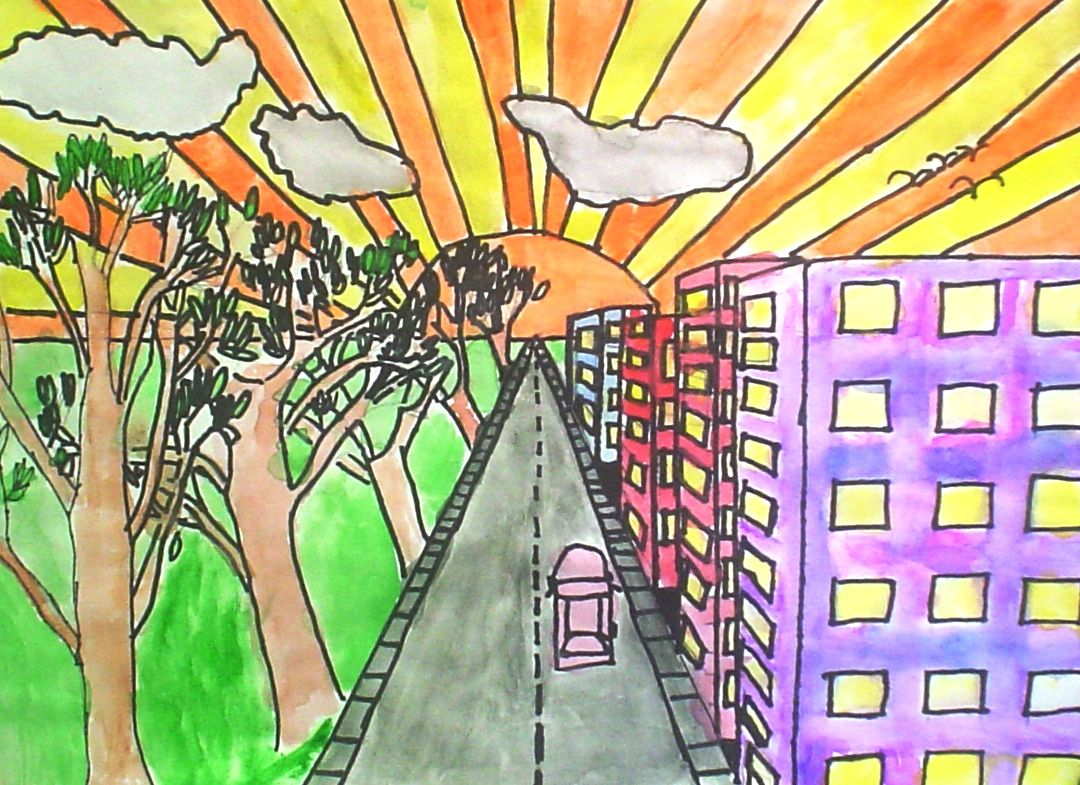 Lessons From The K 12 Art Room One Point Perspective