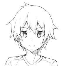 Image Result For 3 4 View Face Anime Desenho De Cabelo De Anime Desenhos De Homens Desenho De Menino