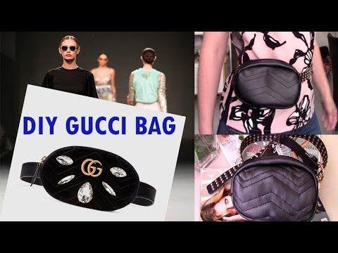643a752132a4 #guccibeltbag #diygucci #riñonera GUCCI BELT BAG DIY/ RIÑONERA INSPIRADA EN  GUCCI cangurera