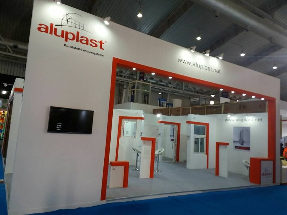 Aluplast GMBH 100 Sqm Stand Design Execute At Acetech Bangalore 2016 By Team UniversalInfotainment