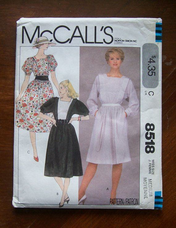 McCalls 8518 Misses Dresses Sewing Pattern ~ 8 Styles