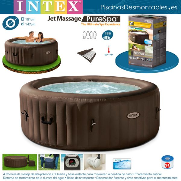jacuzzi hinchable intex modelo purespatm el mejor de su categor a estructura super resistente. Black Bedroom Furniture Sets. Home Design Ideas