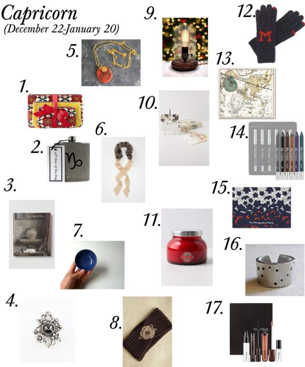 the zodiac gift guide: capricorn. This is my zodiac sign! gift ideas for ya'll