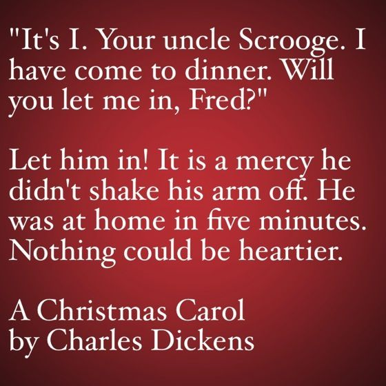 My Favorite Quotes from A Christmas Carol #44   It's I! Your Uncle