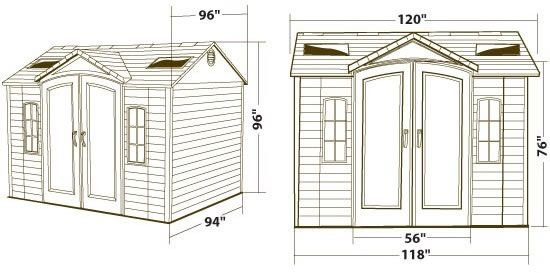 Lifetime 10x8 New Style Plastic Storage Shed Kit 60090u Lifetime Storage Sheds Storage Shed Kits Plastic Storage Sheds
