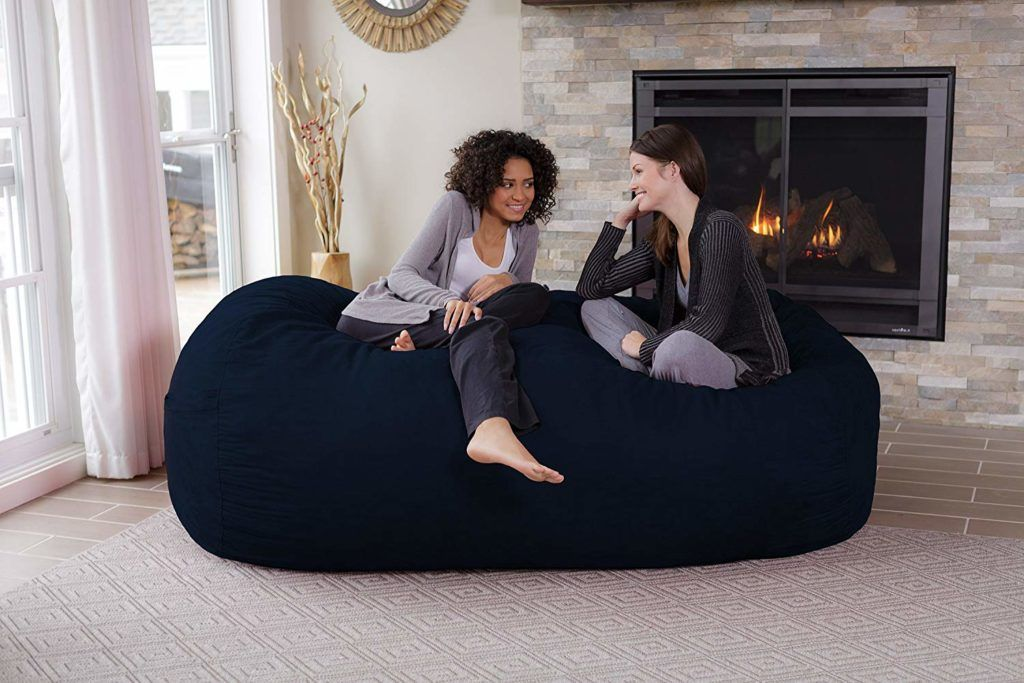 Chill Sack Bean Bag Chair Huge 7 5 Memory Foam Furniture And Large Lounger Reviews Ing Guide