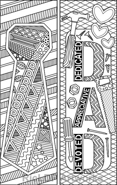 Set of 8 Coloring Bookmarks for