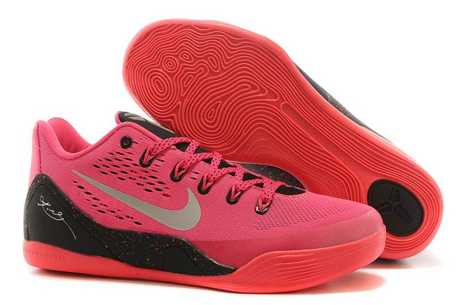 best sneakers dab65 8cf7d ... real nike air kobe 9 ix kay yow think pink silver black mens low  athletic shoes