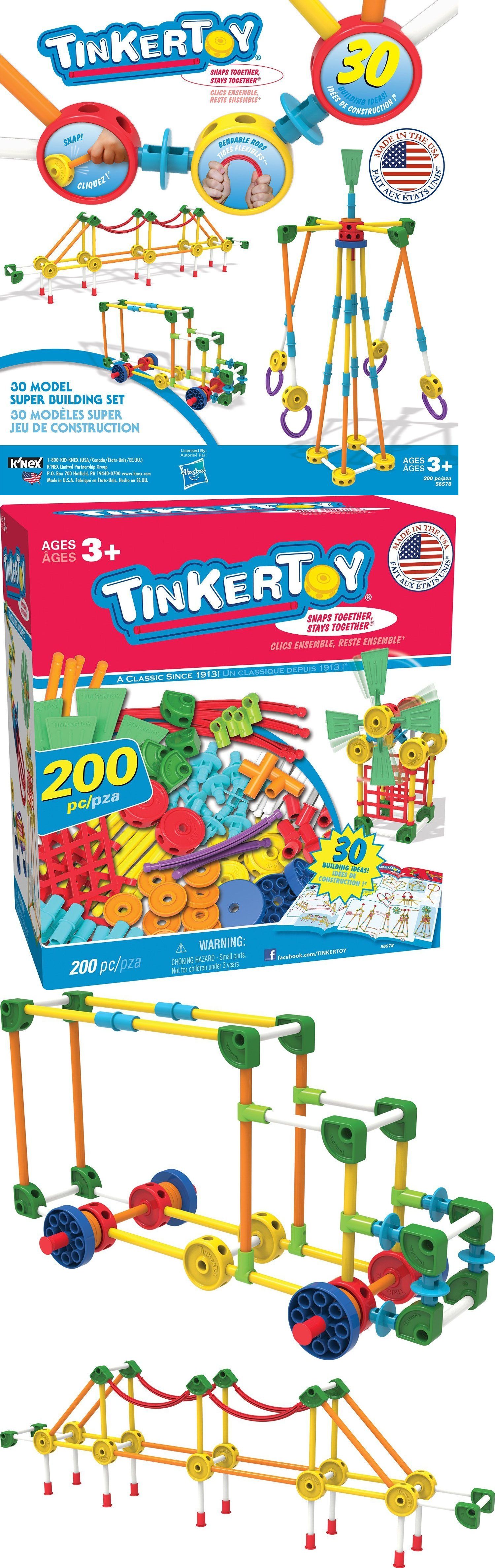Tinkertoy Building Toys For 5 Year Olds Boys Toddlers Girls