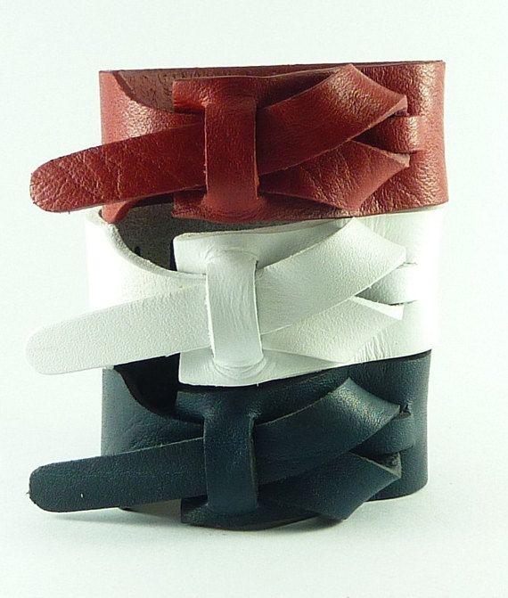 This 3 Color Combination Of Red White And Blue Cuffs Are A