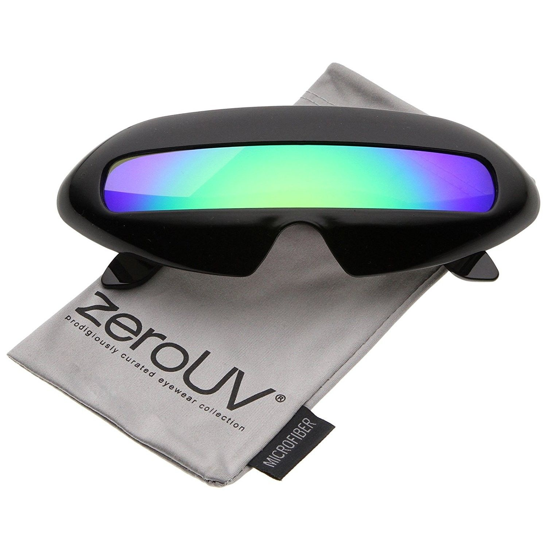 Mens Shield Oversized Mono Lens Warp Designer Fashion Luxury Sport Sunglasses
