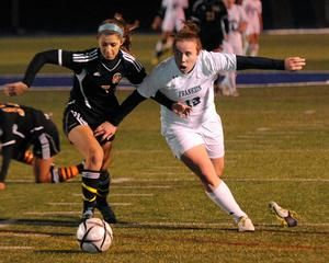 Kristi Kirshe Right And The Franklin Girls Soccer Team Are Two Wins Short Of Winning Their First State Champions Girls Soccer Team Futbol Soccer Girls Soccer