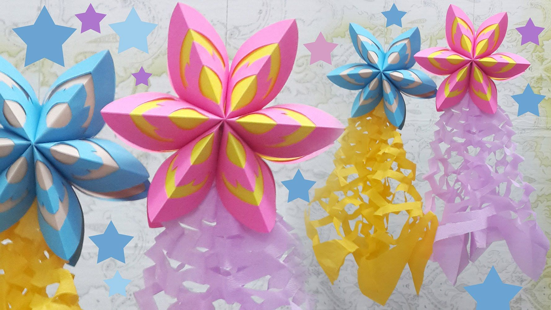 last minute christmas decoration idea paper parol or just use for any kind of party