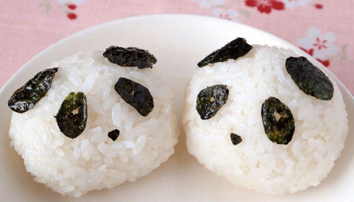 Reis mit Nori verzieren Pandabär asiatische Deko Idee Essen Foodie