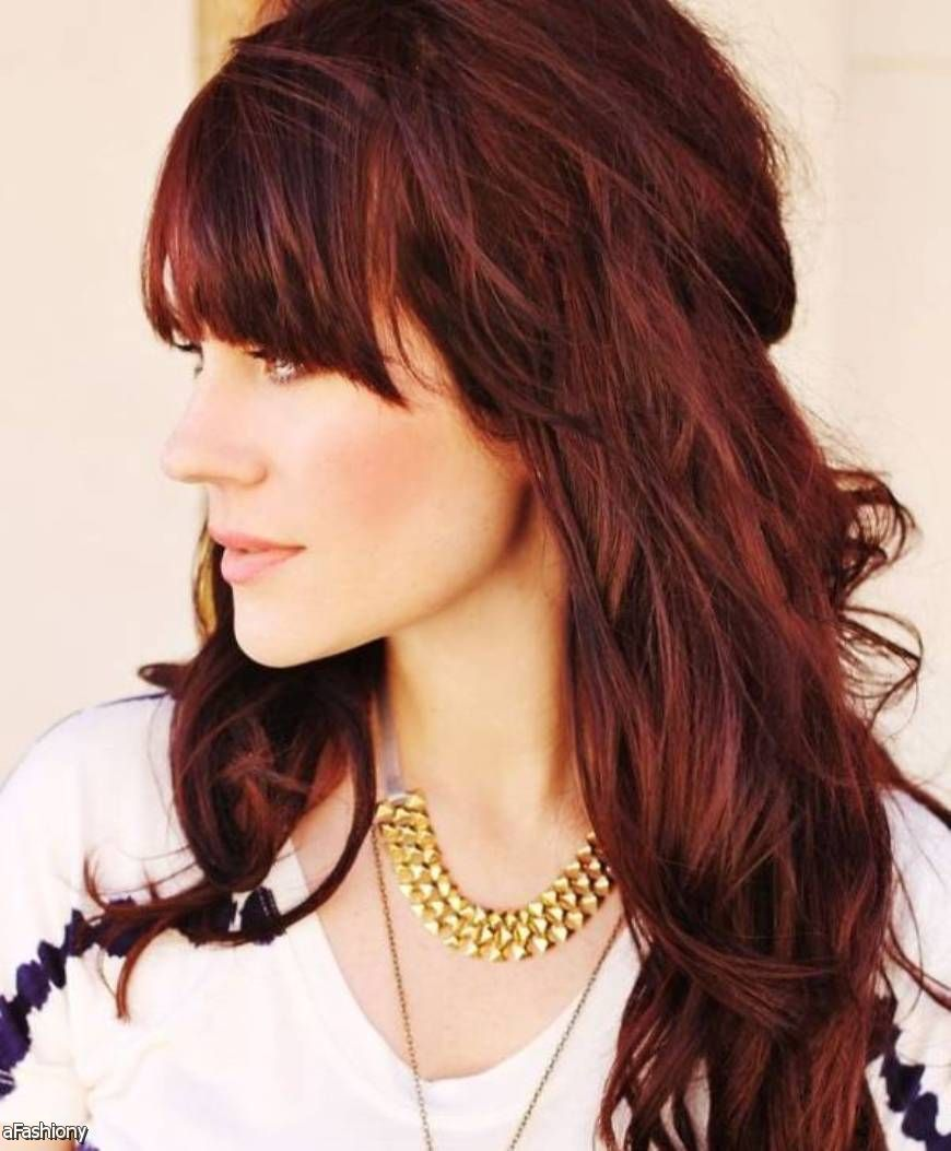 Red And Brown Hair Tumblr 2015 2016 Fashion 2016 Up To Date Hairstyles Hair Color Mahogany Light Hair Color Hair Color Burgundy