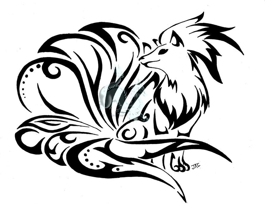 More Tribal Goodness This Time Its Ninetales Line Art Colored Version Zekrom Reshiram