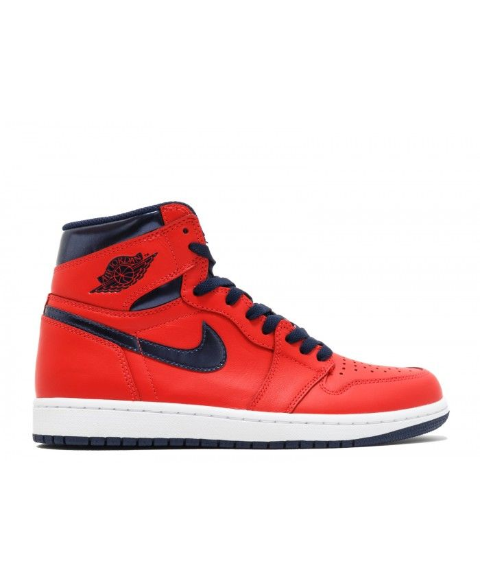 Air Jordan 1 Retro High Og David Letterman Lt Crmsn Mid Nvy Unvrsty Bl Wh  555088