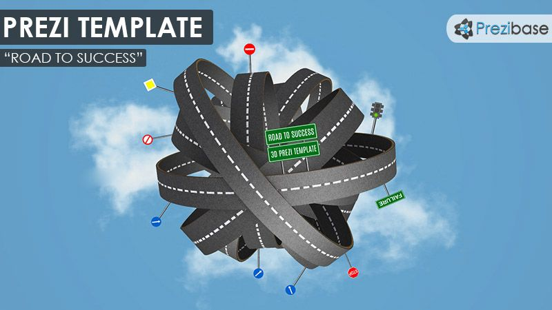 Prezi Template With A Road To Success Concept A D Tangled