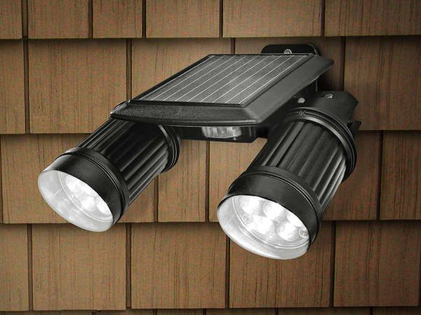 Solar Powered Twin Spotlight 61 Savings After Soaking Up The