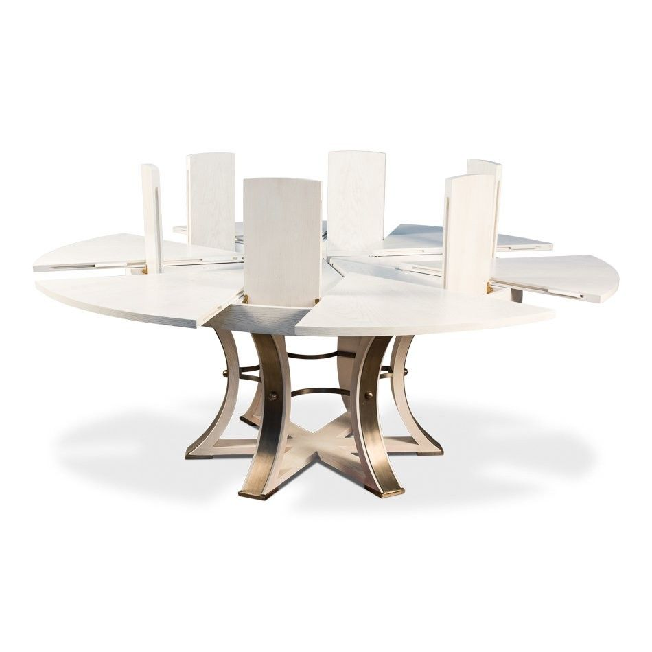 White Extendable Jupe Dining Table Dining Table Round Extendable Dining Table Table