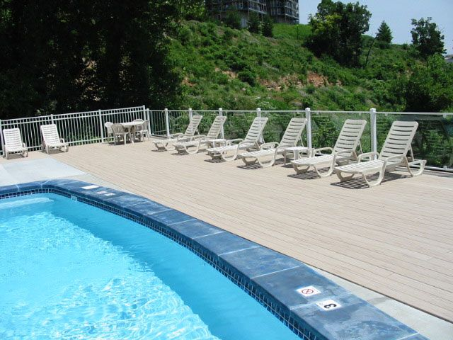 Building A Wooden Deck Over A Sloping Concrete Slab Is Composite Decking Slippery In Winter Uv Protection Deck Maintenance Wpc Decking Above Ground Pool Decks
