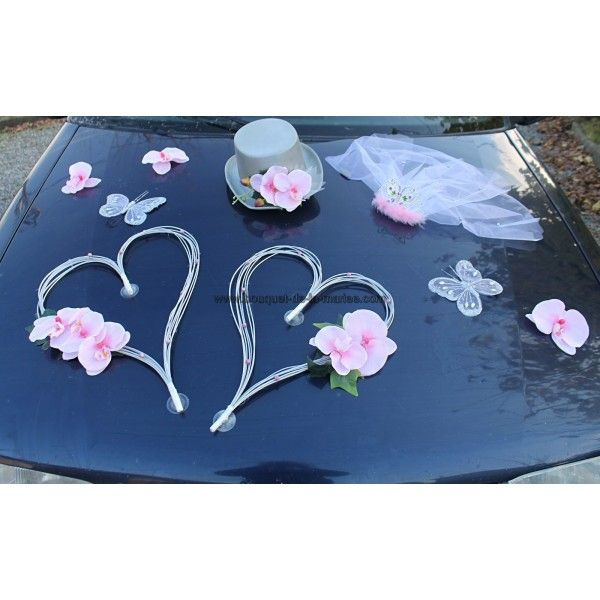 decoration voiture mariage faite dun chapeau et voile orchide sur - Ventouse Pour Decoration Voiture Mariage