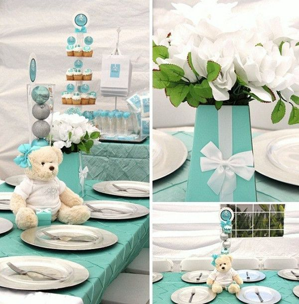 tiffany blue baby shower ideas with bears   baby shower ...