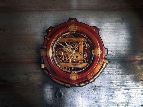 steampunk wall clock style art industrial vintage sculptural in ... - Casa Diy Arredamento Pinterest