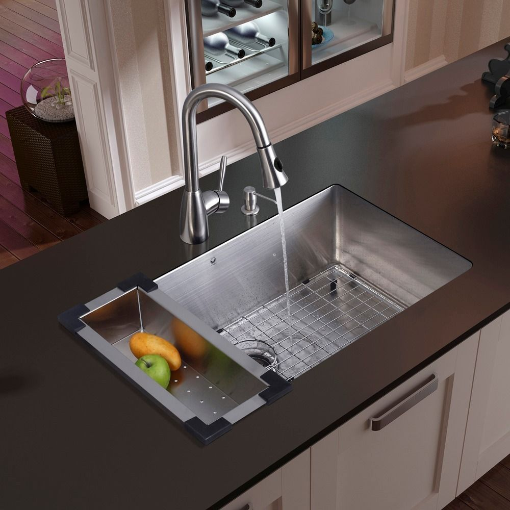 Vigo Mercer Stainless Steel Kitchen Sink And Aylesbury Faucet Set Best Kitchen Sinks Stainless Steel Kitchen Sink Undermount