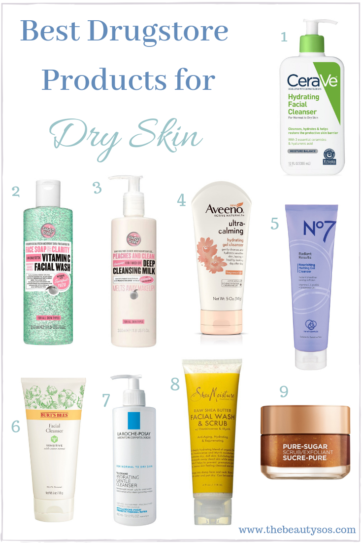 20 Dry Skin Products From The Drugstore The Beauty Sos Dry Skin Care Routine Dry Skin Remedies Dry Skin Facial Cleanser