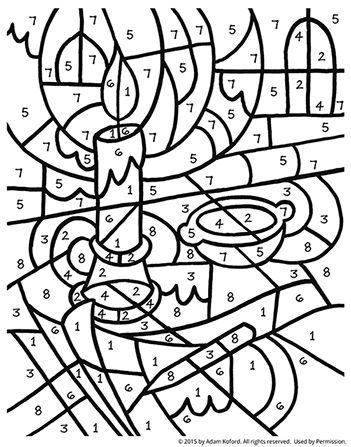 Color By Numbers Coloring Pages Christian Coloring Coloring Books