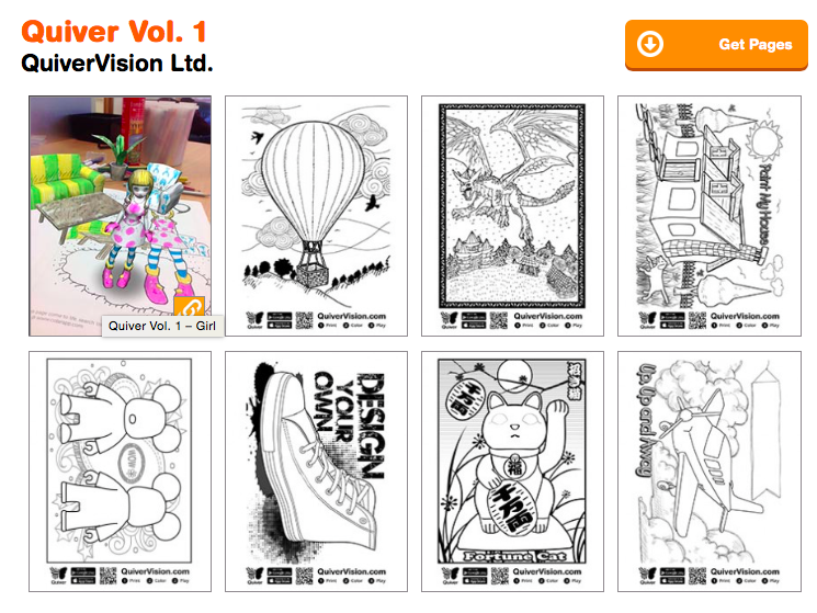 Coloring Pages For Quiver : Quiver volume augmented reality coloring pages http