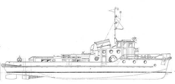 free scale model plans river tug | models boats