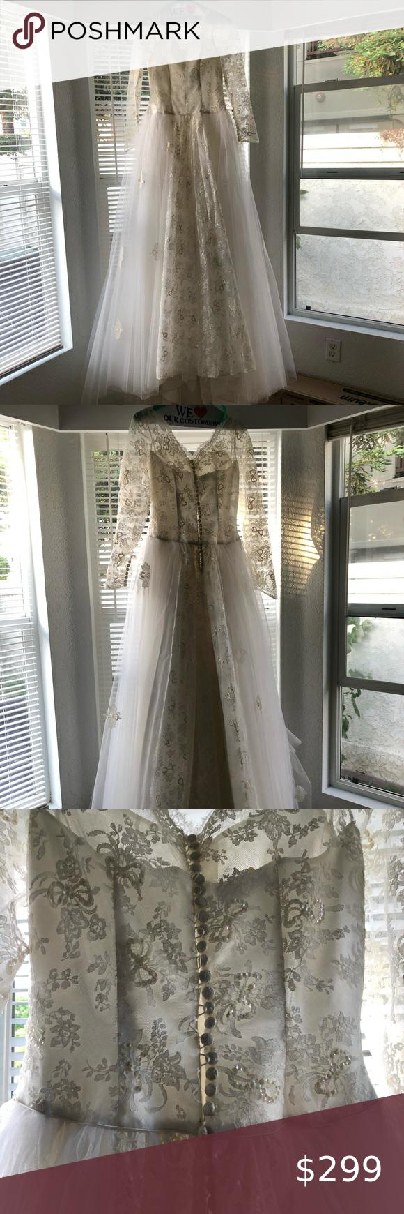 Vintage 1950 S Wedding Dress In 2020 Wedding Dresses Wedding 1950s Wedding Dress